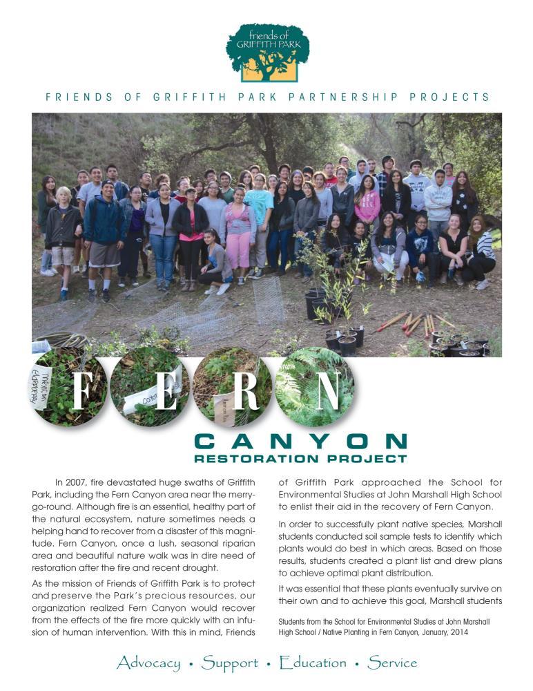 Fern Canyon Restoration Project Brochure