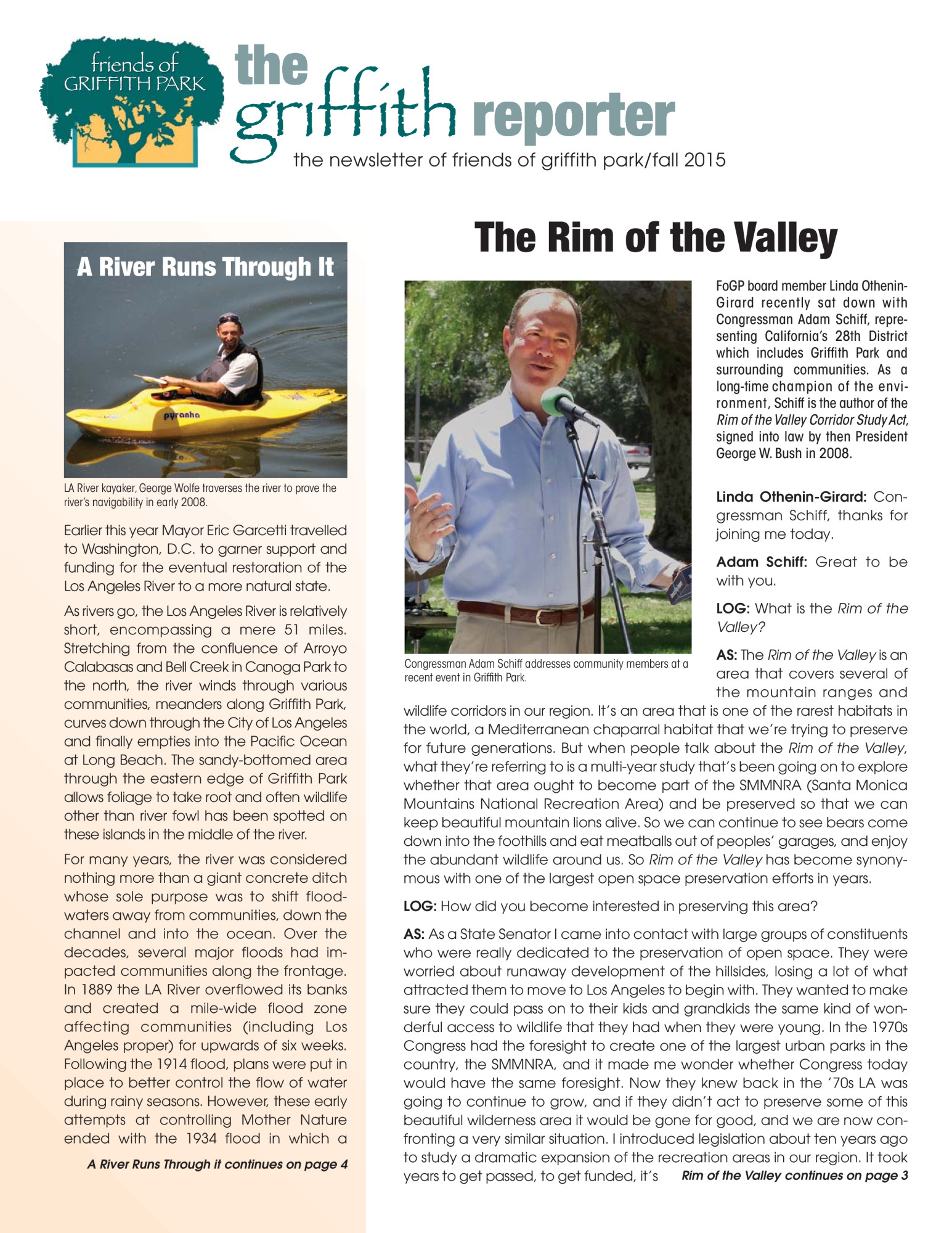 Griffith Reporter (Fall 2015)