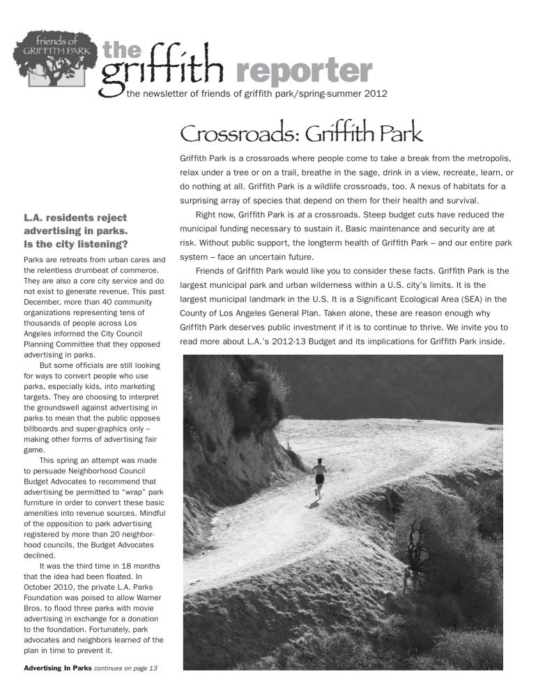 Griffith Reporter (Spring-Summer 2012)